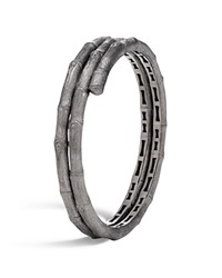 John Hardy Blackened Brushed Sterling Silver Bamboo Double Coil Bracelet 100 Bloomingdale's Exclusive