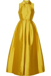 Merchant Archive Duchesse Satin Jumpsuit Yellow