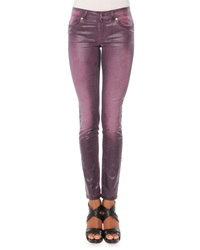 Just Cavalli Faux Leather 5 Pocket Jeans