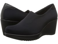 La Canadienne Gina Black Micro Women's Wedge Shoes