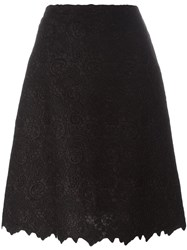 Ermanno Scervino Lace Overlay A Line Skirt Black