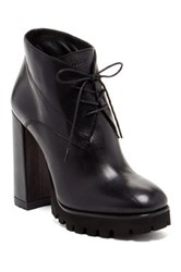 Furla Metropolis Lace Up Boot Black