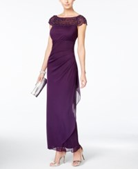 Msk Embellished Side Ruffle Gown Luxe Plum