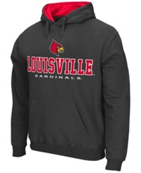 Colosseum Men's Louisville Cardinals 3 Stack Logo Hoodie Charcoal