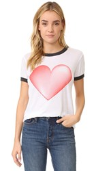 Wildfox Couture Faded Love Tee Clean White Clean Black