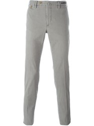 Pt01 'Graffit' Slim Fit Chino Trousers Grey
