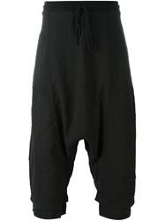 Lost And Found Rooms Cropped Drop Crotch Track Pants Black