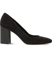 Dune Abell Suede Courts Black Suede