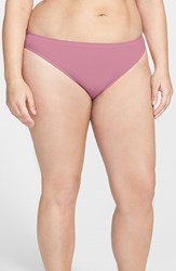 Nordstrom Plus Size Women's Lingerie Seamless High Cut Briefs Purple Bordeaux