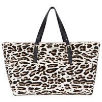 John Lewis Somerset By Alice Temperley Tarnock Leather Tote Bag Animal Print