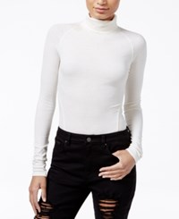 Rachel Roy Ribbed Turtleneck Bodysuit Only At Macy's Canvas