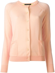 Marc By Marc Jacobs Round Neck Cardigan Pink And Purple