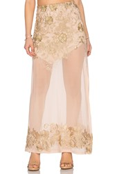 Sky Olinand Skirt Metallic Gold