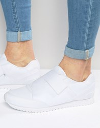Asos Trainers In White With Cross Over Strap White