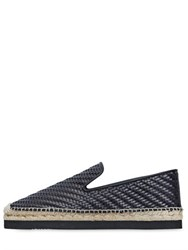 Barcelo Homme Woven Leather Espadrilles