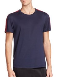 Burberry Sports Stripe Crewneck Tee Navy