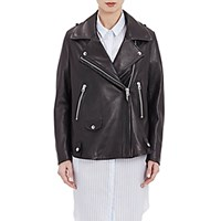Acne Studios Women's Swift Moto Jacket Black Blue Black Blue