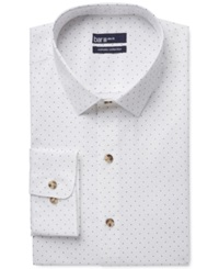 Bar Iii Carnaby Collection Slim Fit White Navy Polka Dot Print Dress Shirt Only At Macy's