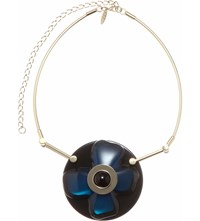 Marni Flower Resin Necklace Royal