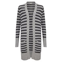 East Stripe Knitted Cardigan Grey