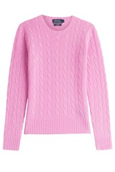 Polo Ralph Lauren Cashmere Cable Knit Pullover Pink