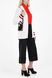 Thom Browne Deep V Neck Cardigan White