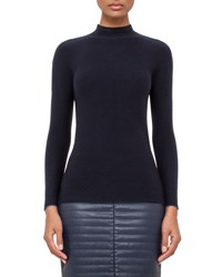 Akris Ribbed Mock Neck Sweater Starling