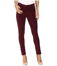 Joe's Jeans Icon Ankle In Garnet Garnet Women's Red