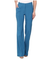 Rebecca Taylor Stretch Linen High Waist Pant Mariner Women's Casual Pants Blue