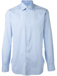 Barba Slim Fit Shirt Blue