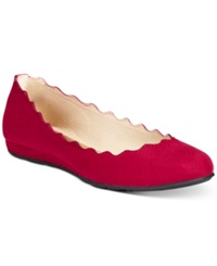 American Rag Erin Scalloped Ballet Flats Only At Macy's Women's Shoes Red