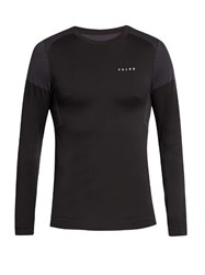 Falke Comfort Long Sleeved Performance T Shirt Black Multi