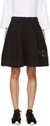 Y 3 Black Flared Jersey Skirt