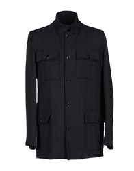 Piombo Coats And Jackets Coats Men Steel Grey