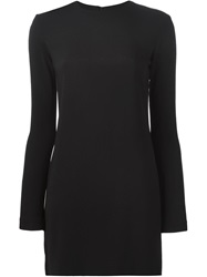 Helmut Lang Long Sleeve Fitted Dress Black