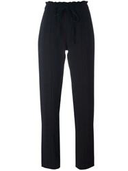 Steffen Schraut Drawstring Straight Leg Trousers Black