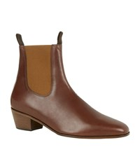 Sandro Harmonica Leather Chelsea Boot Male Brown
