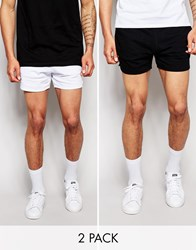 Asos 2 Pack Jersey Shorts In Shorter Length Save 17 Blue