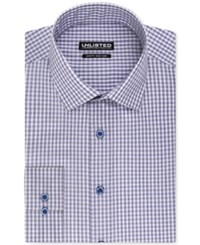 Unlisted By Kenneth Cole Blue Check Slim Fit Dress Shirt