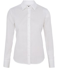 Austin Reed Stripe Textured Shirt White