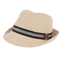 Fred Perry Straw Trilby Hat Natural