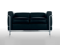 Buy The Cassina Lc2 Two Seater Sofa Online At Nest.Co.Uk