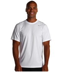 Nike Legend Dri Fit Poly S S Crew Top White Men's Short Sleeve Pullover