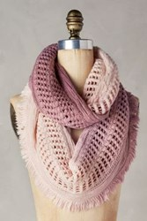 Anthropologie Fringed Ombre Infinity Scarf Pink