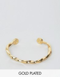 Love Bullets Lovebullets Twisted Cuff Bracelet In Gold Gold