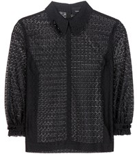 Simone Rocha Embellished Lace Blouse Black