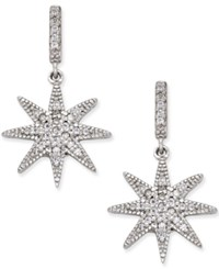 Giani Bernini Cubic Zirconia Star Drop Earrings In Sterling Silver Only At Macy's