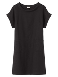 East Bardot Neck Linen Dress Black