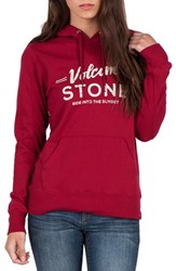 Volcom Women's Barrel Out Graphic Hoodie Brick