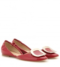 Roger Vivier Chips Patent Leather Ballerinas Red